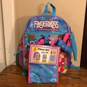 5 Piece Fingerlings Backpack Set